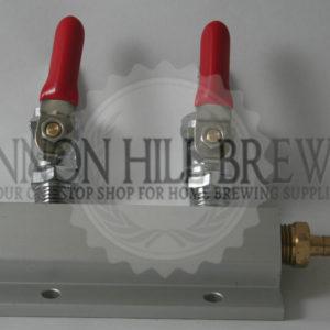 2 Output / 2-way Manifold Gas Splitter