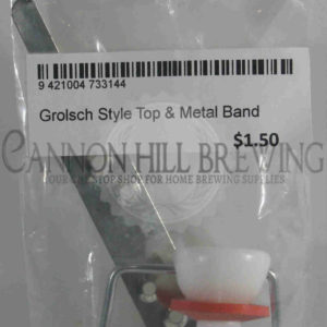 Grolsch Style Flip Top & Metal Band
